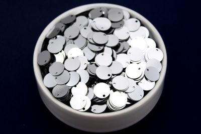 ERTÜRK - 10 mm PLASTİK PUL PAYET, NAKIŞ PULU, DÖKME PUL, YAN DELİK, GÜMÜŞ RENK