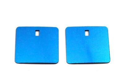 ERTÜRK - 27.5x27.5 mm KARE MODEL PLASTİK PUL PAYET, PANO PULU, 2.6x4.3 mm DİKDÖRTGEN DELİK, TURKUAZ RENK